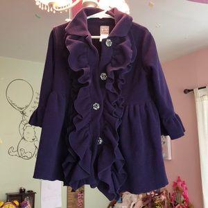 Other - Girls purple ruffle jacket